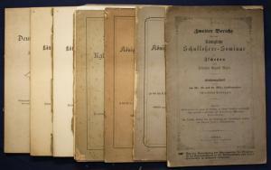 Israel Bericht königliche Schullehrer-Seminar zu Zschopau 5 Hefte um 1870 sf
