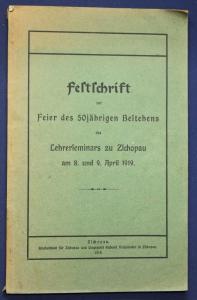 Festschrift zur Feier 50 jähr. Bestehens des Lehrerseminars zu Zschopau 1919 sf