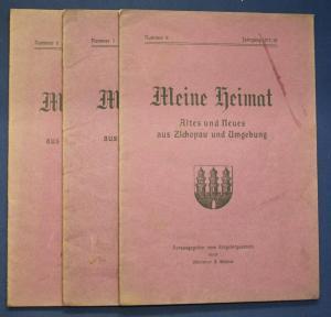3x Meine Heimat Altes & Neues aus Zschopau & Umgebung Nr.6,7,8 1917/18 sf