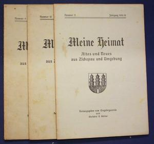 3x Meine Heimat Altes & Neues aus Zschopau & Umgebung Nr.9,10,11 1918/19 sf