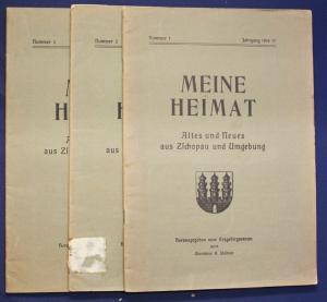 3x Meine Heimat Altes & Neues aus Zschopau & Umgebung Nr.1,2,3 1916/17 sf