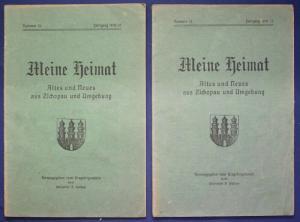 2x Meine Heimat Altes & Neues aus Zschopau & Umgebung Nr.13,14 1919/20 sf