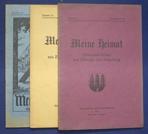 3x Meine Heimat Altes & Neues aus Zschopau & Umgebung Nr.6,18,25 1917-1923 sf