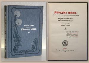 Paulsen Philosophia Militans Gegen Klerikalismus & Naturalismus 1901 Philosophie