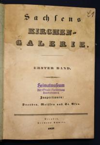 Sachsens Kirchengalerie - Dresden Meißen St. Afra - 76 Lithos + 14 Beigaben 1837
