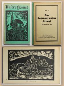 Steglich Unsere Heimat Das Sagengut unserer Heimat Heft 6 Kamenz um 1930 sf