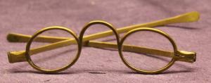 Sehr seltene antike Brille aus Messing um 1780 Optikerkunst alte Berufe sf