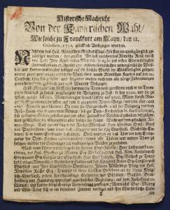 2 Kleinschriften ungebunden von Kaiser Karl VI zur Wahl & Krönung 1711 rara sf