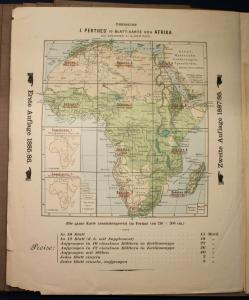 Habenicht/ Domann/ Lüddecke Justus Perthes 1893 Afrika Kolonien Specialkarte sf