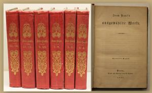 Jean Paul's ausgewählte Werke Bde 3-14 1847 Bd 1&2 fehlt Belletristik sf