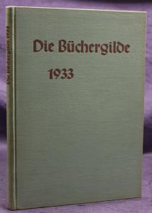 Die Büchergilde Jahrgang 1933 Zeitschrift Geschichte Gesellschaft Politik sf