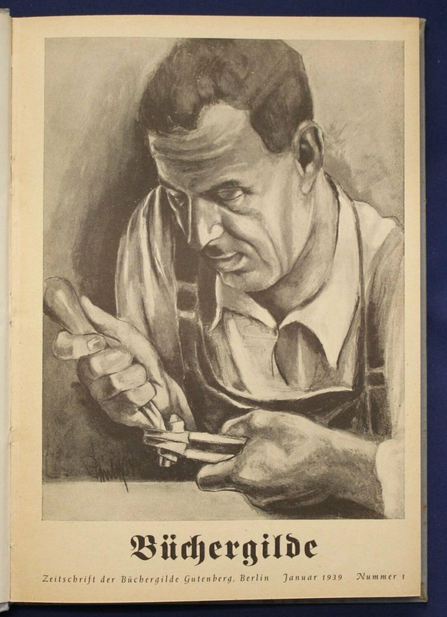 Die Büchergilde Jahrgang 1939 Zeitschrift Geschichte Gesellschaft Politik sf 1