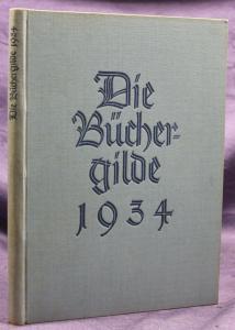 Die Büchergilde Jahrgang 1934 Zeitschrift Geschichte Gesellschaft Politik sf