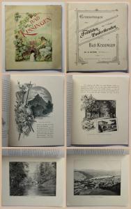 Original Prospekt Stöhr Erinnerungen Bad Kissingen Bayern Unterfranken um 1900
