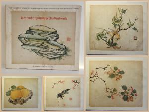 Tschichold Der frühe chinesische Farbendruck 16 farbige Bilder Faksimile 1940 xz
