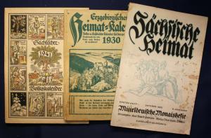 3 Kalender (Sächs. Volkskalender, Erzgeb. Heimatkalender, Sächs. Heimat) sf