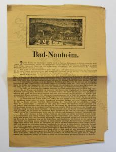Original Prospekt Bad Nauheim 1880 Kurstadt Wetteraukreis Hessen Ortskunde xz