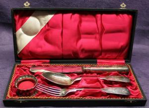 Original Besteckkasten Messer,Gabel,Löffel 1920 Jahre Art Deko Bauhaus Silber sf