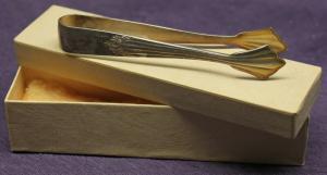 WMF Zuckerzange um 1930 Fächermuster Barock 90er Silber Besteck Haushalt sf