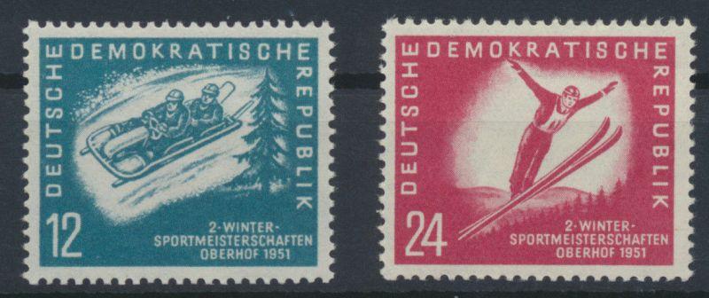 1951 - DDR - Satz Mi Nr. 280-281 - 2. Wintersportmeisterschaften der DDR **
