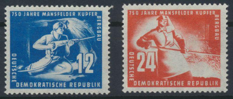 1950 - DDR - Satz Mi Nr. 273-274 - 750 Jahre Mansfelder Kupferschieferbergbau **