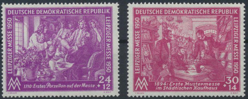 1950 - DDR - Mi Nr. 248-249 - Leipziger Frühjahrsmesse - Satz - Postfrisch **