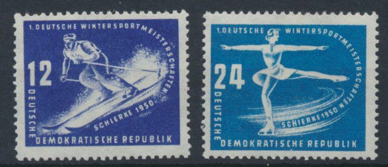 1950 - DDR - Mi Nr. 246-247 - Wintersportmeisterschaften Schierke - Satz **