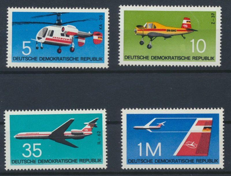 DDR 1972 Mi-Nr: 1749 - 1752 Flugzeugtypen (II)  postfrisch ** / MNH