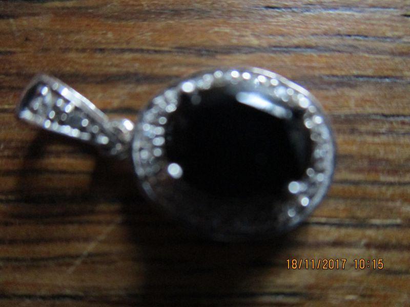 Silberanhänger 925-er,ONYX 1,6 ct,aus brasilien