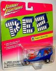 JOHNNY LIGHTNING Pez - Topper Movin' Van Spielzeugauto 7,5 cm OVP /K11