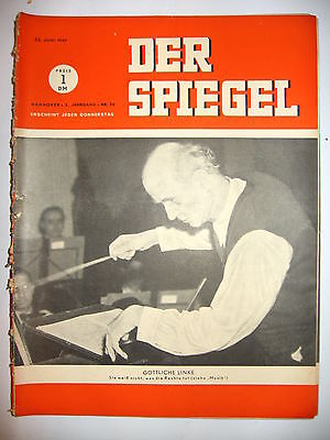 Der spiegel 26 06 1949 tv zeitschrift heft fritz for Der spiegel aktuelles heft
