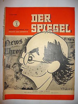 Der spiegel 23 06 1949 tv zeitschrift heft vicky von for Der spiegel aktuelles heft