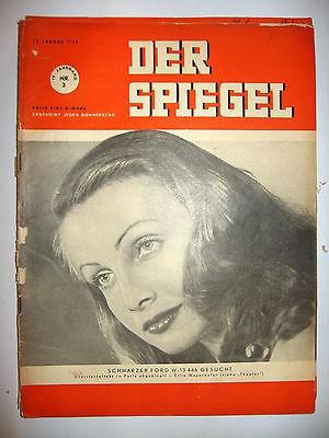 Der spiegel 3 01 1950 tv zeitschrift heft elfie for Der spiegel aktuelles heft