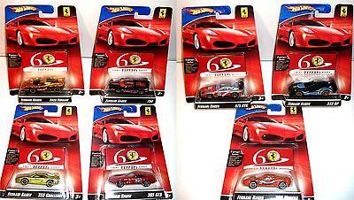 HOT WHEELS 7er Set Ferrari Autos (Enzo Ferrari Gold) 1/64 OVP (K10)
