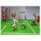 ASTERIX  &  OBELIX   Figurenensemble  Rugby Spiel  PIXI  Limitiert NEU (L) 1
