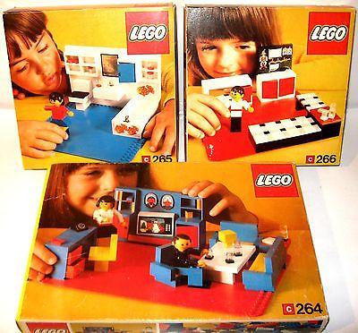 Lego 264 265 266 set s kinderzimmer wohnzimmer mit - Lego kinderzimmer ...