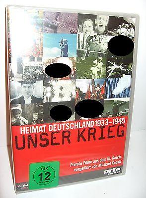 UNSER KRIEG Heimt Deutschland 1933 - 1945 Dokumentation DVD ARTE EDITION (WR8)