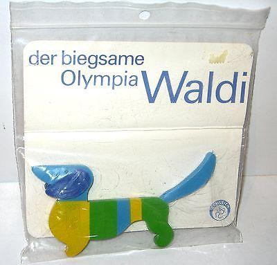 Original Olympia WALDI 1972 Werbefigur / biegsame Gummifigur SCHLEICH OVP (K35)
