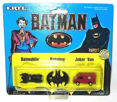 BATMAN Batmobile  Batwing  Joker Van Spielzeugauto Set ERTL Neu (K13)
