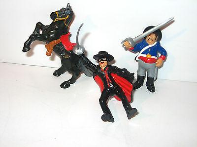 ZORRO 3 Gummifiguren Figuren KOMPLETT Bully 1987 - K (K46)