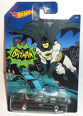 BATMAN Classic TV Series - Batmobile Auto Spielzeugauto HOT WHEELS Neu (L)