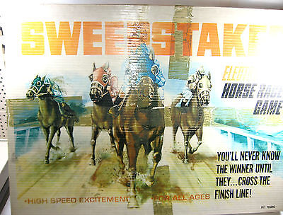 SWEEPSTAKES ELECTROMATIC HORSE RACE GAME elektrische Pferderennbahn (F4)