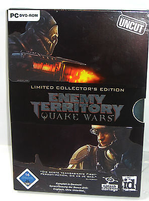 ENEMY TERRITORY Quake Wars LIMITED COLLECTOR'S EDITION Pc Spiel Uncut (WR8)