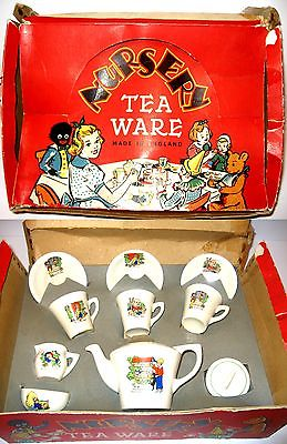 NURSERY TEA WARE Alice im Wunderland Wonderland Kinder Puppen Teeservice (WR03)