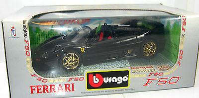 BBURAGO Autodrom - Ferrari F50 Modellauto schwarz IDEE + SPIEL 1:18 mit OVP *B8