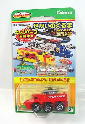 MAJORETTE K-32 Sapuers Pompiers Feuerwehr Auto Japan KABAYA ca.6,5cm Neu#07(K36)