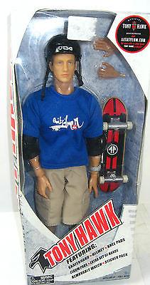 TONY HAWK Skateboard Legende Actionfigur ART ASYLUM ca.30cm NEU (L)