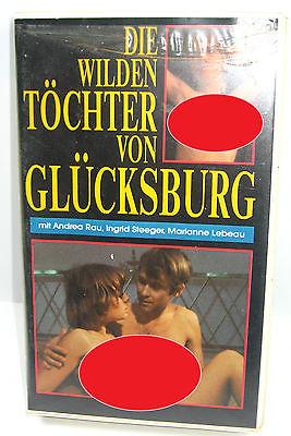 DIE WILDEN TÖCHTER VON GLÜCKSBURG Film VHS Kassette - A. Rau , I. Steeger (WR7)