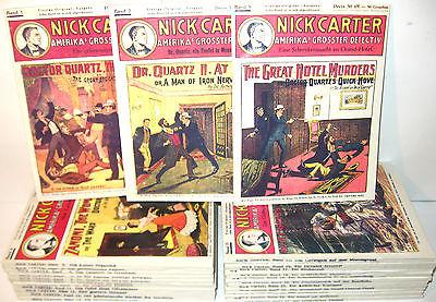 NICK CARTER Amerikas größter Detektiv 1 - 25 Romanhefte Nachdruck (WR3)