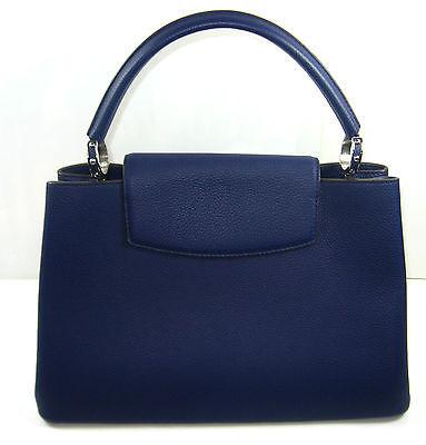 louis vuitton m94665 capucines mm taurillon leder blau. Black Bedroom Furniture Sets. Home Design Ideas